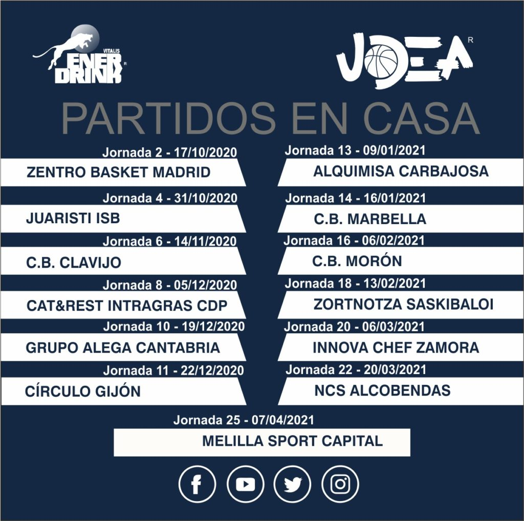 Enerdrink UDEA comienza la temporada oficial Leb Plata en Marbella el 10 de octubre